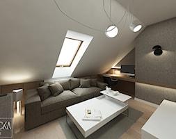 DOM Z OBRAZAMI - Średni szary czarny salon, styl nowoczesny - zdjęcie od DWORNICKA STUDIO - Homebook