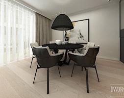 DOM Z OBRAZAMI - Średnia zamknięta szara jadalnia jako osobne pomieszczenie, styl nowoczesny - zdjęcie od DWORNICKA STUDIO - Homebook