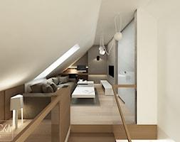 DOM Z OBRAZAMI - Średni beżowy salon, styl nowoczesny - zdjęcie od DWORNICKA STUDIO - Homebook
