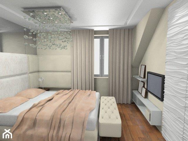 """Jasna sypialnia w stylu glamour - zdjęcie od Pracownia Aranżacji Wnętrz """"O-kreślarnia"""""""