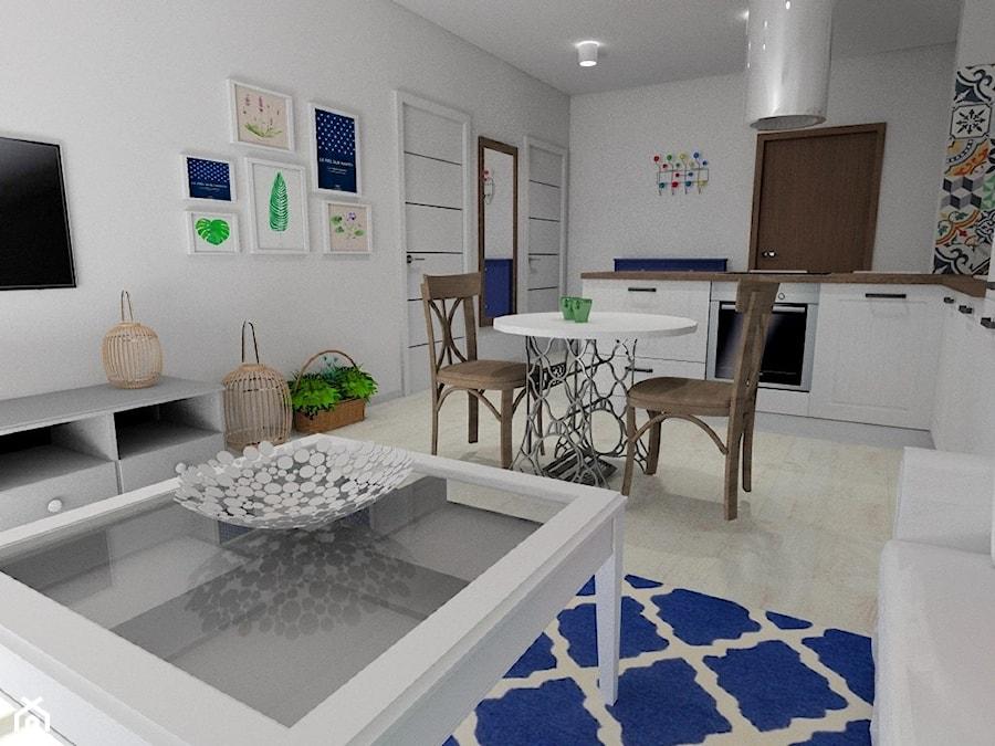 Mieszkanie Z Nuta Orientu Maly Bialy Salon Z Kuchnia Z Jadalnia