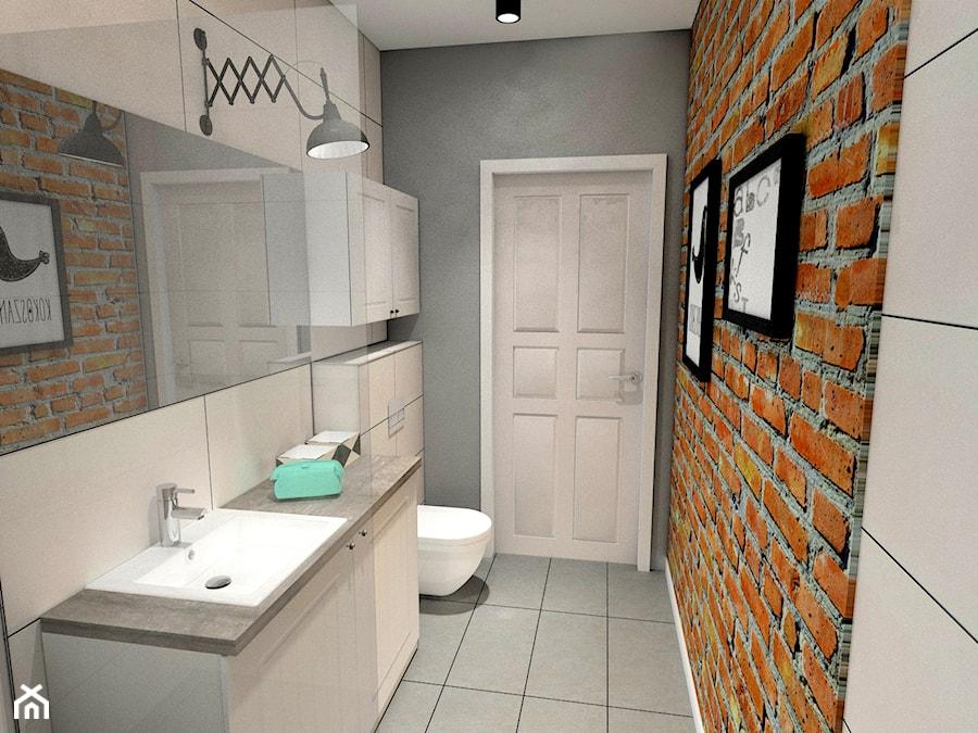 łazienka Z Czerwoną Cegłą Zdjęcie Od Pracownia Aranżacji