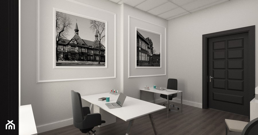 """Biuro w kamienicy - zdjęcie od Pracownia Aranżacji Wnętrz """"O-kreślarnia"""""""
