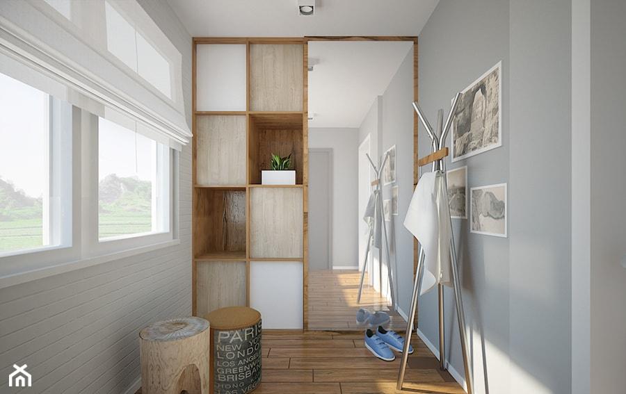 Salon, kuchnia, przedpokój w domu jednorodzinnym  Mały   -> Kuchnia Przedpokój Inspiracje