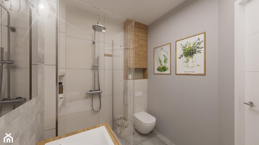 Jasne Naturalne łazienki Mała Szara łazienka W Bloku Bez