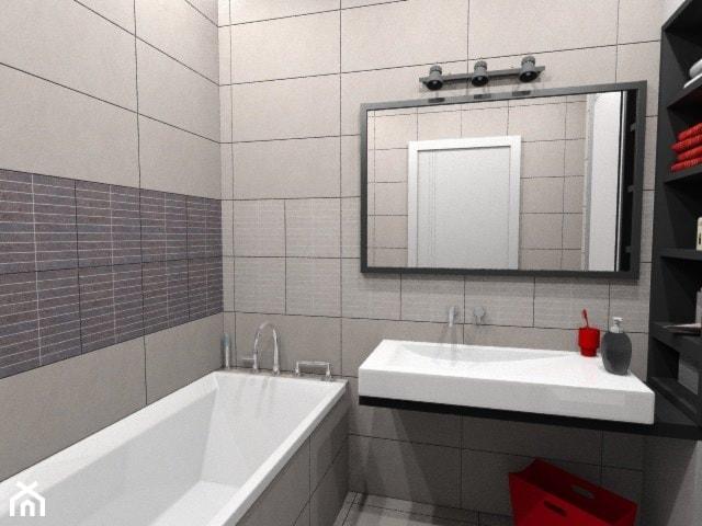 łazienka W Bieli Czerni I Czerwieni Zdjęcie Od Pracownia