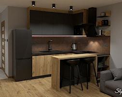 Grafitowo-drewniana+kuchnia+04+-+zdj%C4%99cie+od+STYLOWE+ARAN%C5%BBACJE+Studio+Projektowania+Wn%C4%99trz