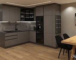Ciemna+zabudowa+kuchenna+-+zdj%C4%99cie+od+STYLOWE+ARAN%C5%BBACJE+Studio+Projektowania+Wn%C4%99trz