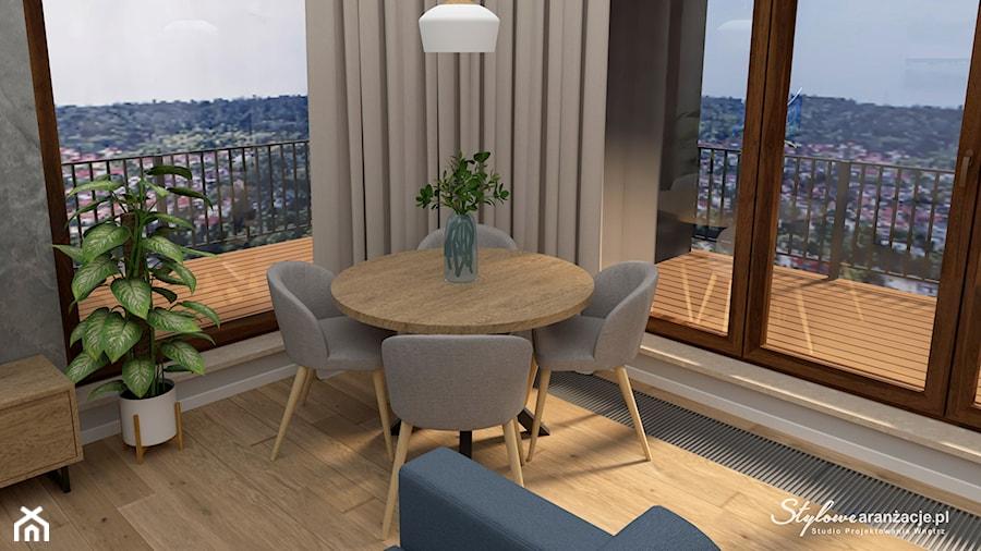 Jadalnia z panoramą miasta - zdjęcie od STYLOWE ARANŻACJE Studio Projektowania Wnętrz