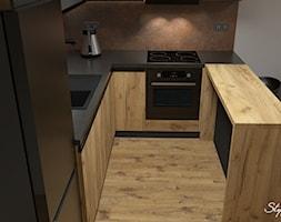 Grafitowo-drewniana+kuchnia+02+-+zdj%C4%99cie+od+STYLOWE+ARAN%C5%BBACJE+Studio+Projektowania+Wn%C4%99trz