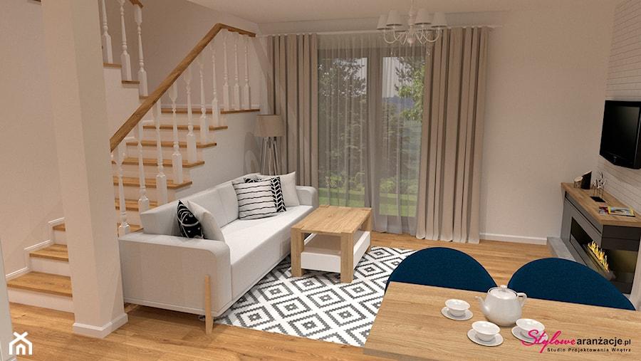 Salon w stylu skandynawskim - zdjęcie od STYLOWE ARANŻACJE Studio Projektowania Wnętrz