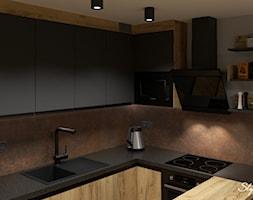 Grafitowo-drewniana+kuchnia+01+-+zdj%C4%99cie+od+STYLOWE+ARAN%C5%BBACJE+Studio+Projektowania+Wn%C4%99trz