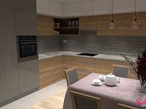 Kuchnia - przestronna i kobieca wizualizacja 1 - zdjęcie od STYLOWE ARANŻACJE Studio Projektowania Wnętrz