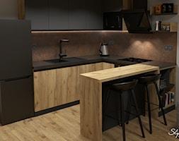 Grafitowo-drewniana+kuchnia+03+-+zdj%C4%99cie+od+STYLOWE+ARAN%C5%BBACJE+Studio+Projektowania+Wn%C4%99trz