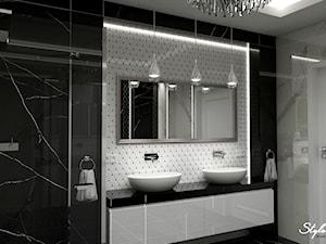 Aranżacja łazienki czerń i biel
