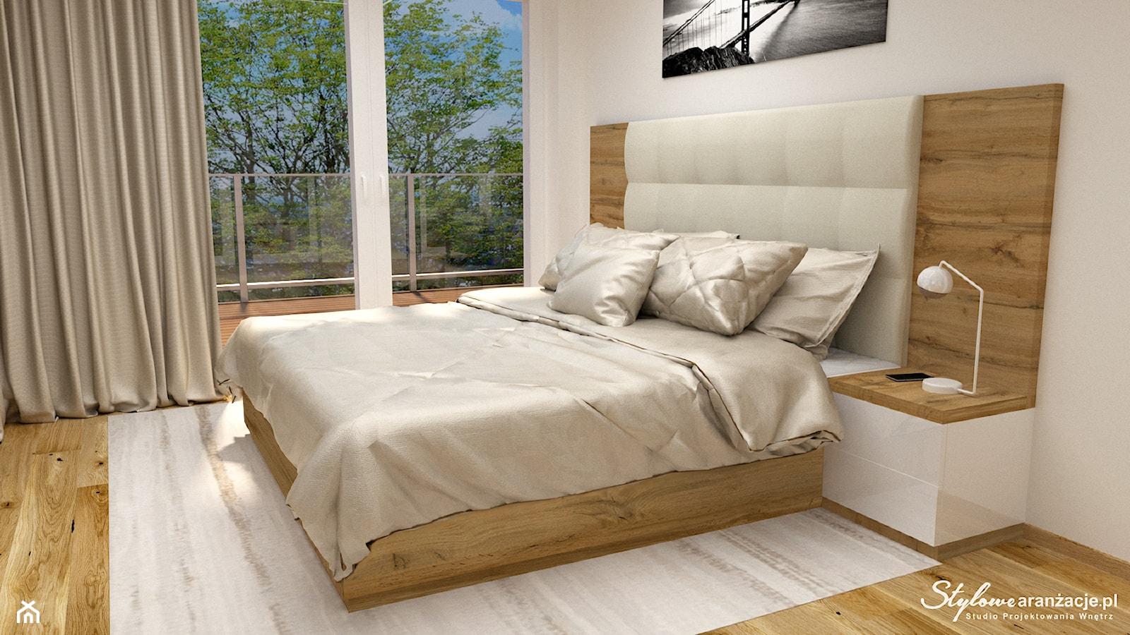 Nowoczesna sypialnia 06 - zdjęcie od STYLOWE ARANŻACJE Studio Projektowania Wnętrz - Homebook