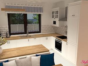 Kuchnia, jadalnia i salon  w stylu skandynawskim