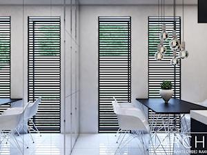 Centrum Kominkowe - Średnie szare kolorowe biuro domowe w pokoju, styl nowoczesny - zdjęcie od ArchiVR Bartlomiej Rakowski