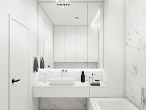 Łazienka HO - Średnia biała łazienka, styl minimalistyczny - zdjęcie od Kosakowski Studio