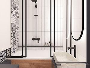 Łazienka z patchworkiem - zdjęcie od Irena Rosiak Architekt Wnętrz