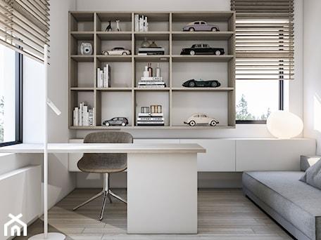 Aranżacje wnętrz - Biuro: 113. MM - Biuro, styl minimalistyczny - am.home. Przeglądaj, dodawaj i zapisuj najlepsze zdjęcia, pomysły i inspiracje designerskie. W bazie mamy już prawie milion fotografii!