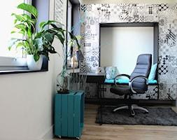 Gabinet - patchwork - Biuro, styl nowoczesny - zdjęcie od architektura&wnętrza Monika Kowalewska Pracownia Projektowa