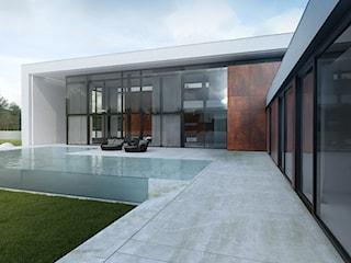 Futurystyczny  dom jednorodzinny