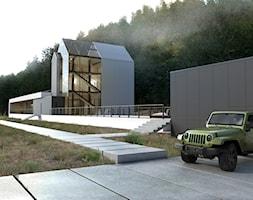 Dom+jednorodzinny+z+poddaszem+u%C5%BCytkowym+-+zdj%C4%99cie+od+BIAMS+Budownictwo+i+Architektura+Marcin+Sieradzki+-+projektant%2C+architekt