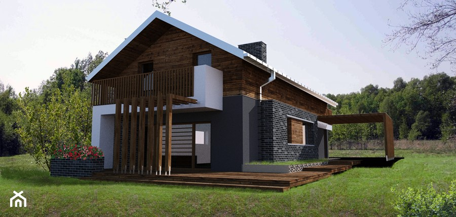 tarasy, balkony, wiaty, zadaszenia - zdjęcie od BIAMS Budownictwo i Architektura Marcin Sieradzki - projektant, architekt
