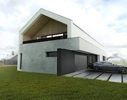 Dom+jednorodzinny+z+poddaszem+i+loggi%C4%85+-+zdj%C4%99cie+od+BIAMS+Budownictwo+i+Architektura+Marcin+Sieradzki+-+projektant%2C+architekt