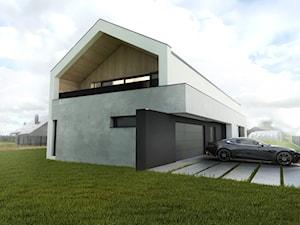 Minimalistyczny dom jednorodzinny typu stodoła z poddaszem użytkowym