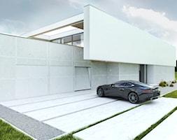 Podjazd+do+gara%C5%BCu+i+wej%C5%9Bcie+do+domu+-+zdj%C4%99cie+od+BIAMS+Budownictwo+i+Architektura+Marcin+Sieradzki+-+projektant%2C+architekt
