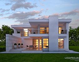 Dom jednorodzinny, piętrowy z garażem dwustanowiskowym. - zdjęcie od LK&Projekt - Homebook