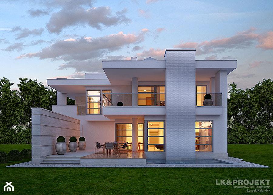 Dom jednorodzinny pi trowy z gara em dwustanowiskowym for Moderne hausmodelle