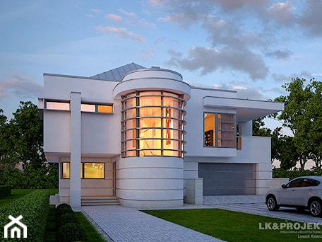Aranżacje wnętrz - Domy: Dom jednorodzinny, piętrowy z garażem dwustanowiskowym. - LK&Projekt. Przeglądaj, dodawaj i zapisuj najlepsze zdjęcia, pomysły i inspiracje designerskie. W bazie mamy już prawie milion fotografii!