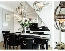 APARTAMENT SOPOT - Średnia otwarta szara jadalnia w salonie, styl art deco - zdjęcie od FABRYKA WNETRZ