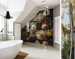 DOM W OKOLICACH GDAŃSKA - Duża łazienka na poddaszu w domu jednorodzinnym jako salon kąpielowy z oknem, styl art deco - zdjęcie od FABRYKA WNETRZ