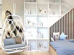 pokoje dziecięce - Mały szary pokój dziecka dla chłopca dla dziewczynki dla malucha, styl nowoczesny - zdjęcie od ajaje - architekci & projektanci wnętrz