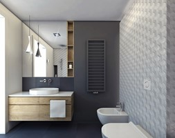 tarnow mieszkanie 60m2 - Łazienka, styl nowoczesny - zdjęcie od ajaje - architekci & projektanci wnętrz
