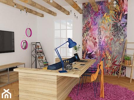 Aranżacje wnętrz - Biuro: Kolorowy - MRÓZdesign. Przeglądaj, dodawaj i zapisuj najlepsze zdjęcia, pomysły i inspiracje designerskie. W bazie mamy już prawie milion fotografii!