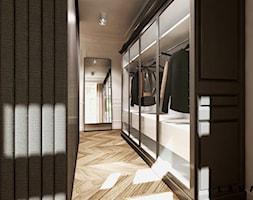 eklektyczne powiązania - Średnia zamknięta garderoba przy sypialni, styl eklektyczny - zdjęcie od LAVA Projektowanie Wnętrz