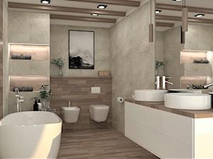 łazienka w skandynawskim wydaniu - Średnia łazienka w bloku w domu jednorodzinnym bez okna, styl skandynawski - zdjęcie od Marlena Wójcik interiors