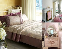 Materace - Mała szara żółta sypialnia małżeńska, styl prowansalski - zdjęcie od Klinika Snu
