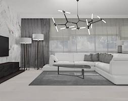 All In White - Duży szary salon, styl nowoczesny - zdjęcie od Home Philosophy