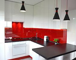 Geometryczna kuchnia w apartamentowcu - zdjęcie od Dudeko - Meble na zamówienie