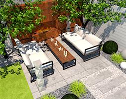 Ogrody przydomowe - Mały ogród za domem, styl minimalistyczny - zdjęcie od Zielony Tlen - pracownia architektury krajobrazu