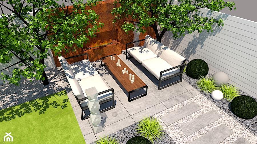 Aranżacje wnętrz - Ogród: Ogrody przydomowe - Mały ogród za domem, styl minimalistyczny - Zielony Tlen - pracownia architektury krajobrazu. Przeglądaj, dodawaj i zapisuj najlepsze zdjęcia, pomysły i inspiracje designerskie. W bazie mamy już prawie milion fotografii!