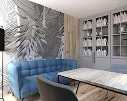 DOMOWE BIURO - Średnie szare biuro domowe, styl eklektyczny - zdjęcie od INSIDERS - Homebook