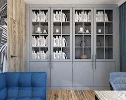 DOMOWE BIURO - Średnie szare białe biuro domowe w pokoju, styl eklektyczny - zdjęcie od INSIDERS - Homebook