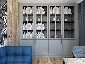 DOMOWE BIURO - Średnie szare białe biuro domowe w pokoju, styl eklektyczny - zdjęcie od INSIDERS
